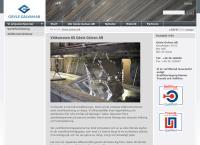 Webbsida från Gävle Galvan AB