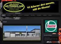 Webbsida från Årjängs Autodelar AB