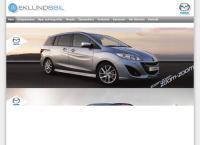 Webbsida från Eklunds Bil AB