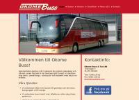 Webbsida från OKOME BUSS & TAXI AB