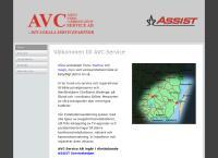 Webbsida från AVC-Service AB