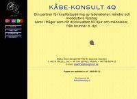 Webbsida från Kåbe-Konsult 4Q