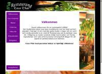 Webbsida från Coco Thai