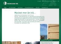 Webbsida från Fredricsons Trä AB