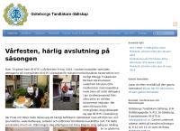 Webbsida från Göteborgs Tandläkare-Sällskap
