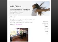 Webbsida från Håriform