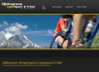 Webbsida från Hjelmgrens Cykelsport och Fritid
