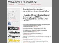 Webbsida från I Huset Besiktning Sverige AB