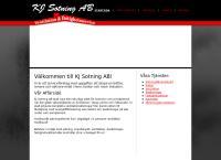 Webbsida från KJ Sotning AB