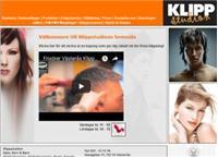 Webbsida från Klippstudion i City
