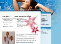 Webbsida från Laser & Hudvårdskliniken