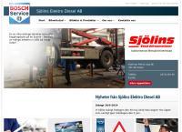Webbsida från Sjölins Elektro-Diesel AB