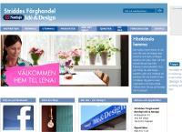 Webbsida från STRIDDES FÄRGHANDEL AB