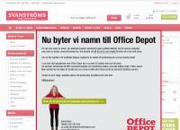 Webbsida från Svanströms