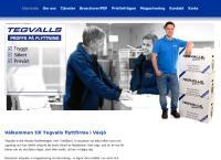 Webbsida från Tegvalls Express AB