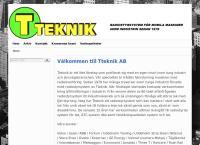 Webbsida från Traversteknik AB