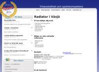 Webbsida från VVS SPECIALISTEN I VÄXJÖ AB