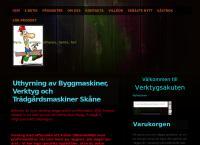 Webbsida från Verktygsakuten