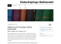 Webbsida från SÖDERKÖPINGS BOKHANDEL AB