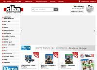 Webbsida från SIBA AB