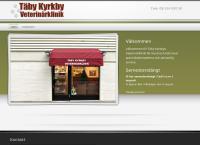 Webbsida från TÄBY KYRKBY VETERINÄRKLINIK AB