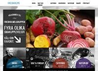 Webbsida från Fredholm Krog