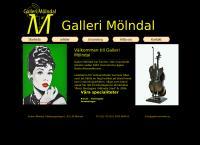 Webbsida från Galleri Mölndal