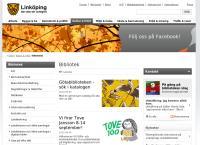 Webbsida från Linköping Stadsbibliotek