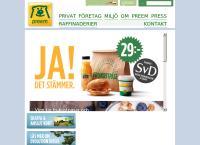 Webbsida från Preem Svedala