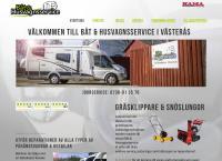 Webbsida från Båt & Husvagnsservice