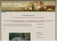 Webbsida från Baloo Art o Antik