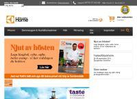 Webbsida från Electrolux Home