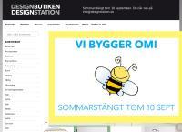 Webbsida från Design Station Skanör AB
