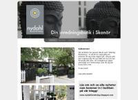 Webbsida från Nydahl, Present & Inredning