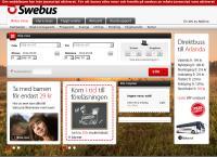 Webbsida från Swebus Karlstad