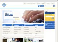 Webbsida från Posten