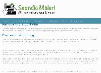 Webbsida från Scandic Maleri