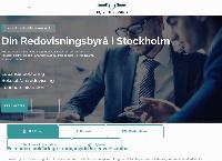 Webbsida från B.Q Accounting AB